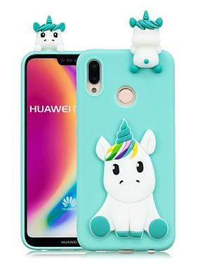 ieftine Carcase Mobil-Maska Pentru Huawei P20 Pro / P20 lite Reparații Capac Spate Inorog Moale TPU pentru Huawei P20 / Huawei P20 Pro / Huawei P20 lite / P10 Lite / P10