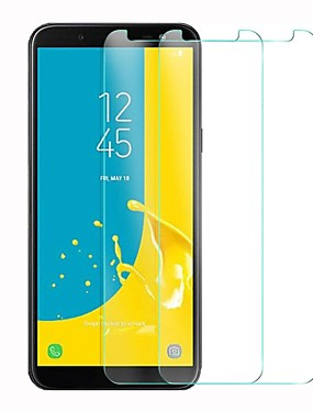cheap Screen Protectors for Samsung-Screen Protector for Samsung Galaxy J6 Tempered Glass 1 pc Front Screen Protector High Definition (HD) / 9H Hardness / 2.5D Curved edge