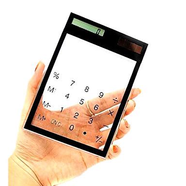 透明デザインソーラーパワー卓上電卓(各色あり)