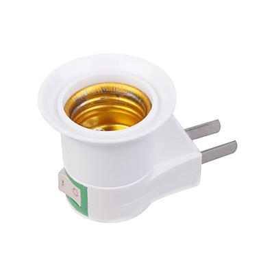 US Priz'den E27'ye E27 110-240 V Işık soketi Plastik