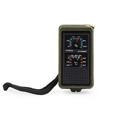 Multifuncational Outdoors Survivali Kit (Whistle + Compass + Magnifier + LED Flashlight)