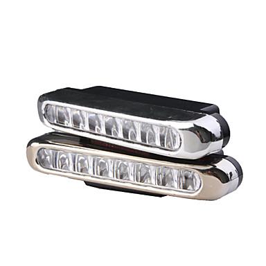 4w 8 önderliğindeki beyaz ışık araba gündüz sürüş lambası (2 paket)