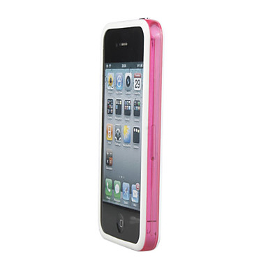 Stylish Protective Bumper Infinite Loop Frame Case for iPhone 4 (White-Translucent Pink)