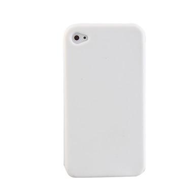 iPhone4 için Silikon Koruyucu Kılıf (Beyaz)