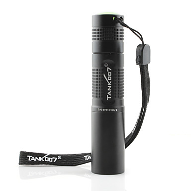 tk566 tank007® 365nm-1w 1-modo de linterna led (1xAA / 1x14500, negro)