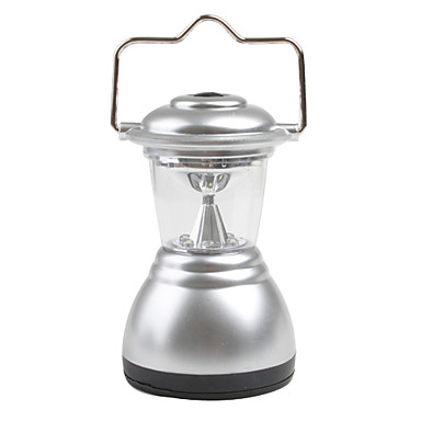 6 LED report sur le camping lampe de camping lampe 3xAAA d'argent