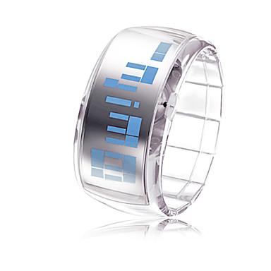 Herre Dame Unisex Moteklokke Digital LED Plast Band Hvit Merke