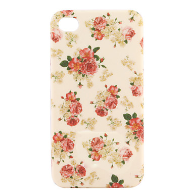 Stylish Flower Hard Case for iPhone4G (White)