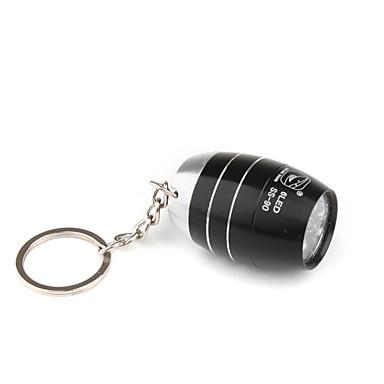 barile forma 6pcs superluminosi portato torcia portachiavi esclusivo design nero