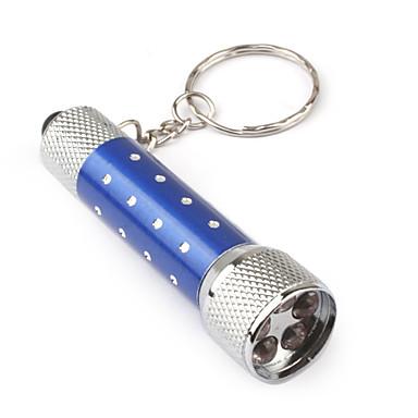 アルミ5 LEDキーホルダーライト - 青色