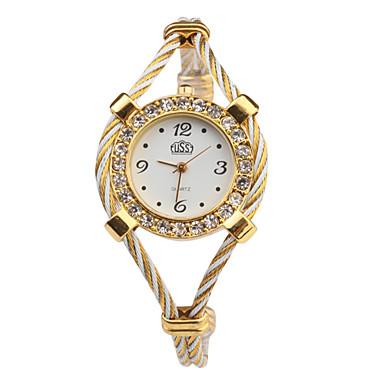 Bayanların Moda Saat Bilek Saati Bilezik Saat Quartz Bant Çok-Renkli Beyaz