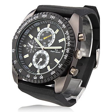 V6® Men's Watch Military Racing Style Big Dial Silicone Strap Cool Watch Unique Watch Fashion Watch