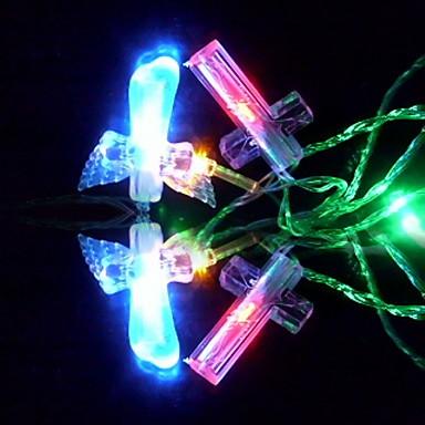 6m 3w 32-led kleurrijk licht kruis ontwerp koord fee lamp festival decoratie (110/220V)