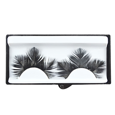 Black Feathery Lashes for Party and Salon Studio Makeup