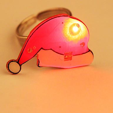 Cartone animato ha portato anello lampeggiante cappello - Cartone animato natale agrifoglio di natale ...