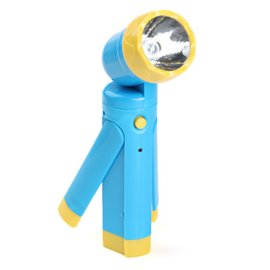 Anglehead 1-Mode 360 Degree Rotating LED Flashlight (AC Charger, Random Color)
