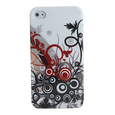 Floral Polycarbonate Case for iPhone 4 / 4S