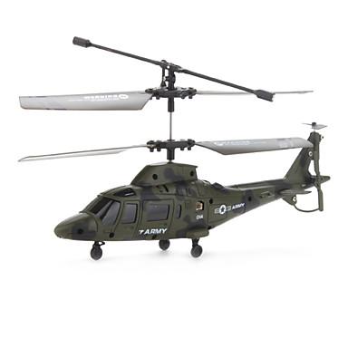 3 canali a raggi infrarossi elicottero rc con giroscopio (verde militare)