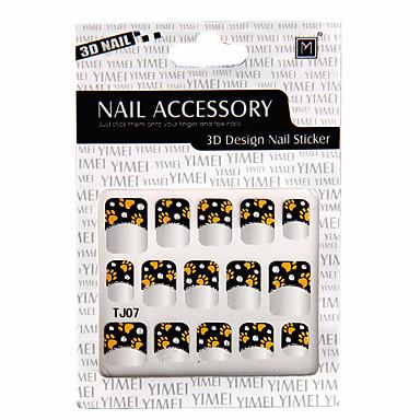 6 In 1 3D Design Nail Sticker(6905045)