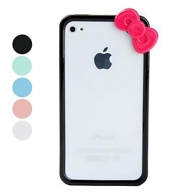Custodia anti-urto in silicone rigido per iPhone 4 e 4S - con Fiocco, Colori assortiti