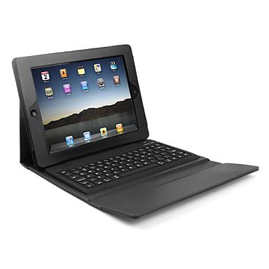 Custodia in pelle con tastiera bluetooth wireless per iPad - Nero
