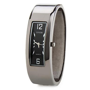 aleación de los hombres y las mujeres analógico reloj pulsera de cuarzo (negro)