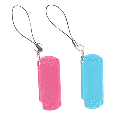 PSP Style Whistle Pendants (2-Piece, Pink and Blue)