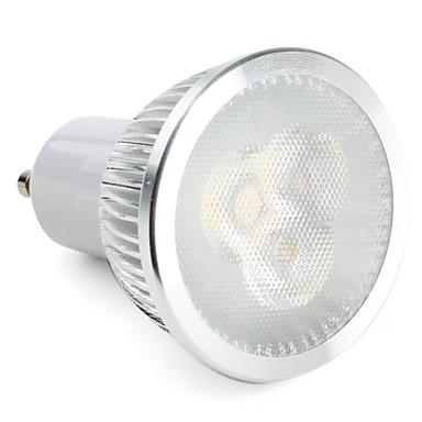 3W 270lm GU10 Faretti LED MR16 3 Perline LED LED ad alta intesità Oscurabile Bianco 85-265V 220-240V
