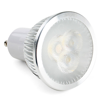 ZDM® 1pc 3W 270lm GU10 LED-spotlys 3 LED Perler Højeffekts-LED Dæmpbar Naturlig hvid 220-240V