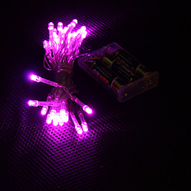 3m 30-led luce rosa 2-mode led fairy fairy lamp per (3xaa)