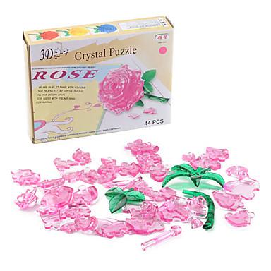mini diy 3d Crystal Rose puslespil
