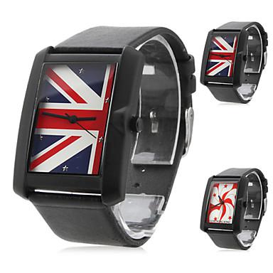 Unisex Square Dial Black PU Band Quartz Wrist Watch (Assorted Colors) Cool Watch Unique Watch
