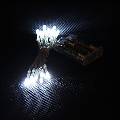 2m 20-ledede hvitt lys 2-modus ledede streng fairy lampe til jul (3xaa)