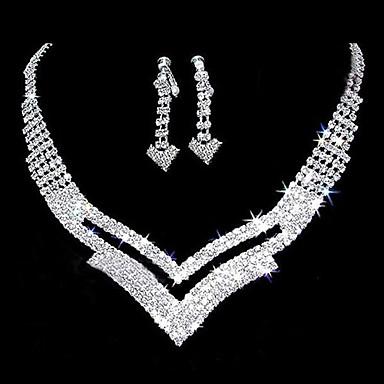 Alb femei cercei Bijuterii Argintiu Pentru Nuntă Petrecere Aniversare Zi de Naștere Logodnă Cadou / Zilnic