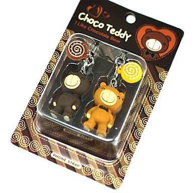 Cute Lollipop Teddy Bear Style Couple's Cell Phone Strap