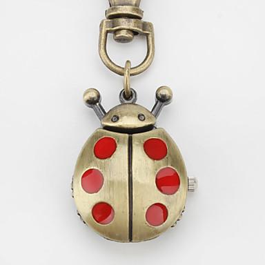 Unisex Red Beatles Alloy Analog Quartz Keychain Watch (Bronze)