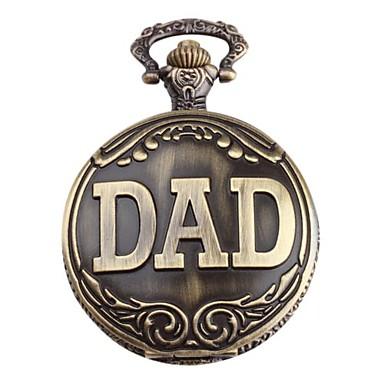 DAD Taschen  Uhr für Ihn, Analog Quartz Uhr mit Legierung