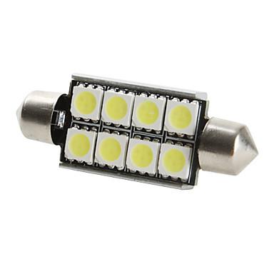 42mm 8x5050 SMD blanco bombilla de luz LED para el coche canbus (DC 12V, 2-pack)