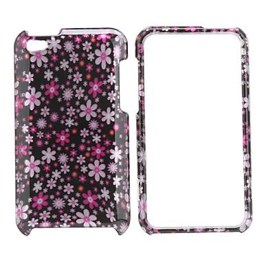 liten blomster stil full body beskyttende etui for iPod touch 4 (rosa)