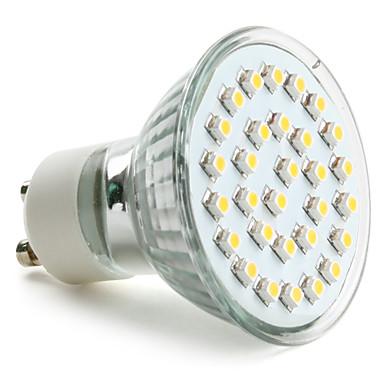 GU10 2W 30 SMD 3528 90 LM Warm White MR16 LED Spotlight AC 220-240 V