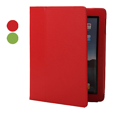 PU Leather Case & Stand for iPad 2/3/4 (Assorted Colors)