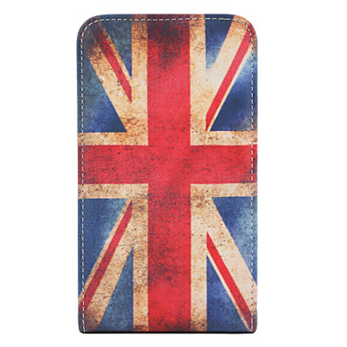 Vintage UK Flag Pattern Style PU Leather Full Body Case for Sumsing i9220 (Multi-color)