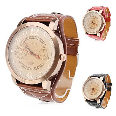 Women's Quartz Wrist Watch Hot Sale PU Band Charm Fashion Black White Red Brown