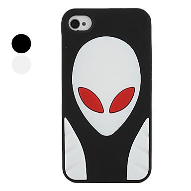 внеземной образец стиля силиконовый чехол для iphone 4 и 4S (разных цветов)