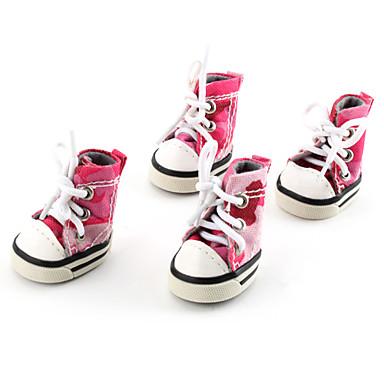 Köpek Ayakkabılar ve Botlar Kovboy Moda kamuflaj Pembe