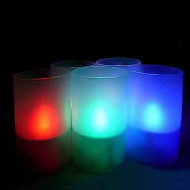 energía solar recargable LED de color cambiante velas sin llama luces