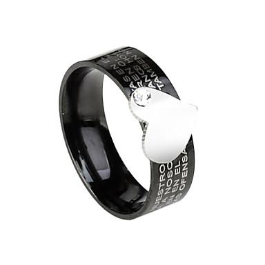 anillo de diamantes de imitación de acero montado eruner®titanium (patrones surtidos)