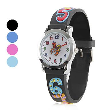 enfants de silicone analogique montre-bracelet à quartz (multicolore)
