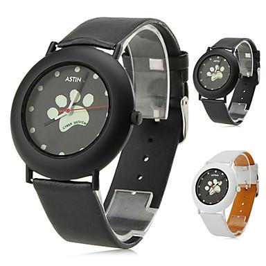 Women's Dog Paws Style PU Analog Quartz Wrist Watch (Assorted Colors)