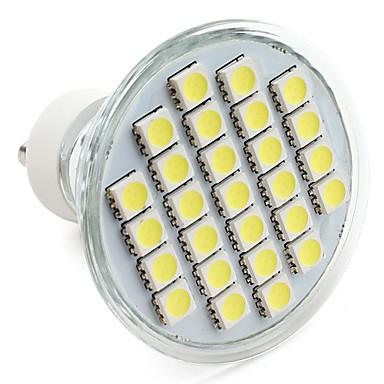 250-300 lm GU10 LED Spot Işıkları MR16 27 led SMD 5050 Doğal Beyaz AC 220-240V